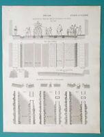 ROADS Construction City Common Stone Railway Causeway - 1826 Antique Print
