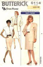 Butterick Sewing Pattern Women's JACKET BLOUSE SKIRT 6114 Evan-Picone 18-22 UC