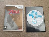 NINTENDO WII MARIO KART GAME & Zelda Twilight Princess Bundle 1st Class post