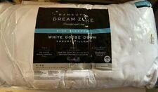 Wamsutta Dream Zone King White Goose Down Side Sleeper Luxury Pillow