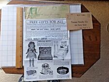 1920's Sample Sales Items & Premiums for Seller Catalog. Tomtee Novelty Co.