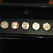 2011 25TH ANNIVERSARY AMERICAN SILVER EAGLE SILVER DOLLAR SET. SEE DESCRIPTION!
