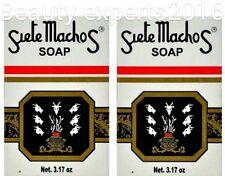 2 PACK!!!  JABONES/ SOAPS SIETE MACHOS 3.17oz  ORIGINAL URANIA
