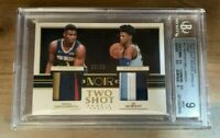 2020 PANINI NOIR ZION WILLIAMSON JA MORANT TWO SHOT ROOKIE PATCH SP /25 ~ BGS 9