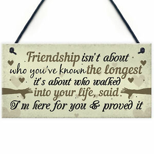 Friendship Plaques Gifts For Women Best Friend Christmas Birthday THANK YOU Sign