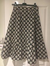 BNWT Fabulous Orla Kiely Puzzle Flower Printed Cotton Ottoman Skirt RRP £200