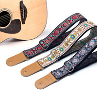 Embroidery Guitar Strap Electric Guitar Acoustic Folk Guitar Bass Strap New YK