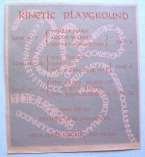 KINETIC PLAYGROUND 1969 CONCERT ADVERT ARTHUR BROWN VANILLA FUDGE ZOMBIES