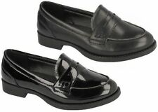 Chaussures décontractées noirs à enfiler pour fille de 2 à 16 ans