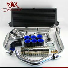 Black Bar & Plate Intercooler Kit For Toyota Starlet GT Turbo Glanza V EP91 EP82