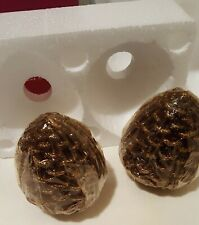Collectable Avon Holly Hollyberry 2 Pine Cone Candles 2000 Avon
