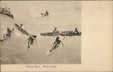 RAPHAEL TUCK West Indies Diving Boys - Which Island? c1905 Postcard