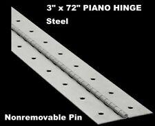 "Continuous Piano Steel Hinge 1-1//4/"" x 46/"" Inch Statuary Bronze Black Finish HF"