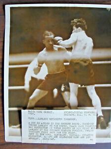 VINTAGE INTERNATIOINAL NEWSREEL  PHOTO THOMPSON VS LAWLESS FIGHT 5/8/1931