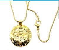 Egyptian Eye Of Horus Ankh Ra Udjat Pendant Necklace