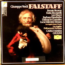 3 LP BOX DGG DIGITAL Verdi FALSTAFF Giulini BRUNSON RICCIARELLI NUCCI 2741 220