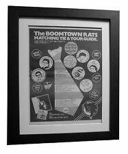 BOOMTOWN RATS+LP+ALBUM+No 1+POSTER+AD+RARE+ORIGINAL 1977+FRAMED+FAST GLOBAL SHIP