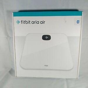 New!! Fitbit Aria Air Bluetooth Digital Body Weight & BMI Smart Scale White