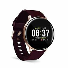 iTouch Sport Round Smartwatch with Waterproof Technology, Heart Rate Burgundy