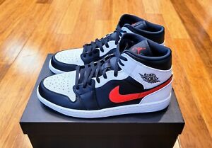 Nike Air Jordan 1 Mid Chile Red White 554724-075 Men's Size 12 New In Hand