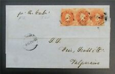 nystamps Chile Stamp Early Cover Rare J15y1672
