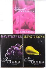 3 PBs MAYA BANKS #2,3&5 in SWEET Series PERSUASION/SEDUCTION/POSSESSION