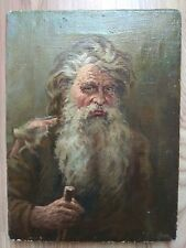 Vintage Original Oil Painting Portrait man Retro USSR Soviet Socialist realism