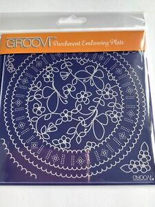 Groovi Plate A5 Square - Butterflies Ribbon Plate
