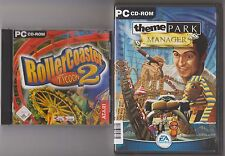 Theme Park Manager + Coaster Youlin 2 parc attraction Classique Collection PC