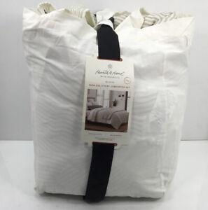 Hearth & Hand with Magnolia, Yarn-Dye Stripe Comforter Set, King