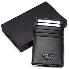 Audi Car Sun Visor Card Holder Case Genuine Leather Driving Licence Cover