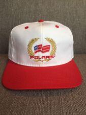 Vtg Polaris Trucker Hat Snap Back Red White 80s ATV Off-road