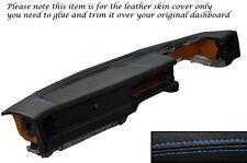 BLUE STITCH DASH DASHBOARD LEATHER SKIN COVER FITS JAGUAR XJ40 XJ6 SOVEREIGN
