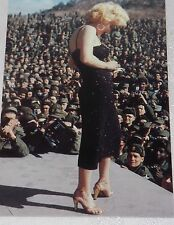 Postcard Marilyn Monroe with Troups in Korea USO Tour #105-497 Unpost B1G2F