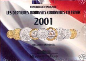 FRANCE BU 2001 en FRANCS, IMPECCABLE.