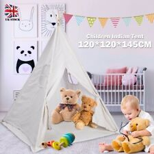 Portable Children Indian Tent Play Sleeping Teepee House Indoor Canvas Christmas