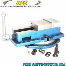 "HFS(R) 4"" Milling Machine Lockdown Vise -Swiveling Base"