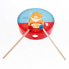 Kids Toddler Wooden Hand Drum Musical Toy Musical Instrument Percussion