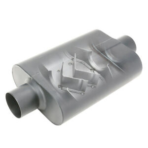 STAINLESS WELDED CHAMBER PERFORMANCE MUFFLER 3 Inch,OFFSET INLET/CENTRE OUTLET