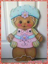 HP Gingerbread Girl Yard Lawn Art Ornament Decoration, Sign, Handmade, Spring