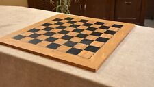 "Wooden Deluxe Black Dyed Poplar & Olive with Matte Finish Chess Board 22""- 55 mm"