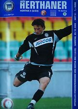 Programm 2005/06 Hertha BSC Berlin Am. - Fortuna Düsseldorf