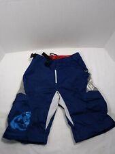 Thor Static Mens Racing Shorts Motocross Blue White Size 26