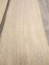 """White Oak Quartered Flake wood veneer 5-6"""" x 40""""-45"""" raw no back 1/42"""" thickness"""