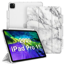 "For iPad Pro 11"" 2020 / 2018 SlimShell Case Frosted Back Cover w/ Pencil Holder"