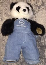 Build-A-Bear Workshop Panda Teddy Bear & Denim Mercedes-Benz Overalls Herrington