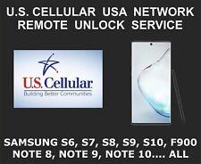 U.S. Cellular Samsung Remote Unlock Service, S8 S9, S10, Note 10, Fold, All