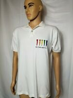 Mens Vintage Golf Polo Shirt Tee it High Watch it Fly Anvil Made in USA Large