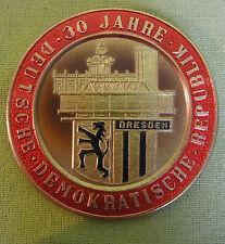 DDR Medaille - Plakette - 30 Jahre DDR - Mach Mit Wettbewerb - Dresden