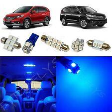 6x Blue LED lights interior package kit for 2007-2012 Honda CR-V HV1B